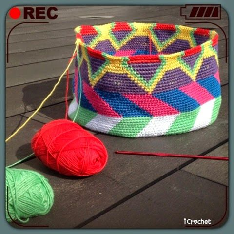 iCrochetstuff: Tapestry Mochila bag haken crochet (work in progress)