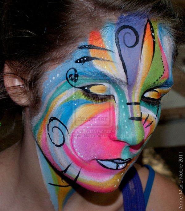abstract face painting face-painting