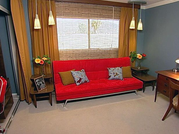 midcentury modern guest room thats a fold out futon - Futon Bedroom Ideas