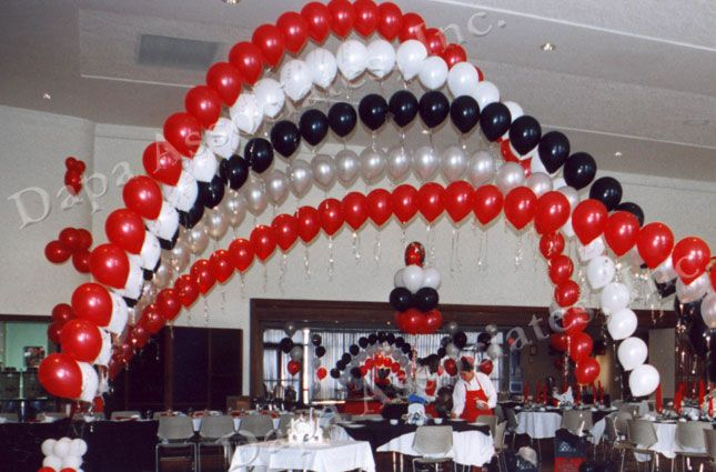 red black balloon arches balloon decorating ideas pinterest grad parties arches and. Black Bedroom Furniture Sets. Home Design Ideas