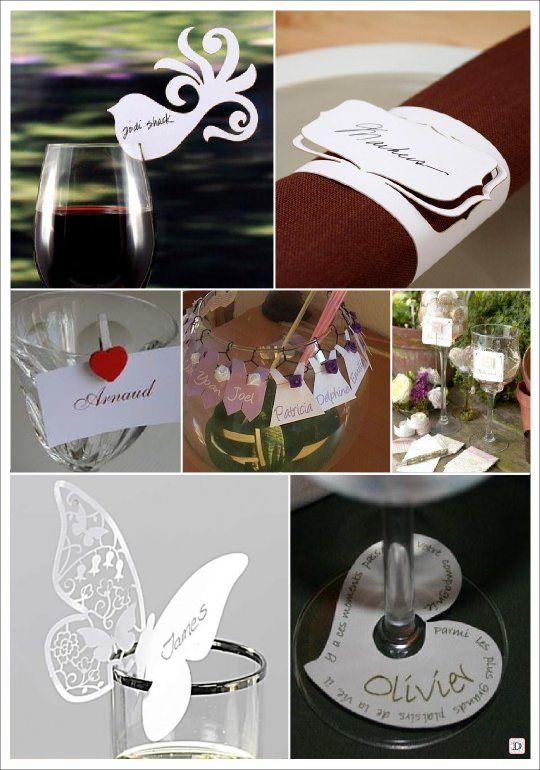 marque place mariage dentelle papier decoupe papier