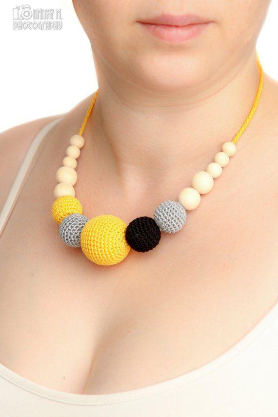 Sommermode – Stillen Halskette pflegende Aussage Schmuck Strang Halskra …   – COLLARES,arete, y pulcerasDE TELA