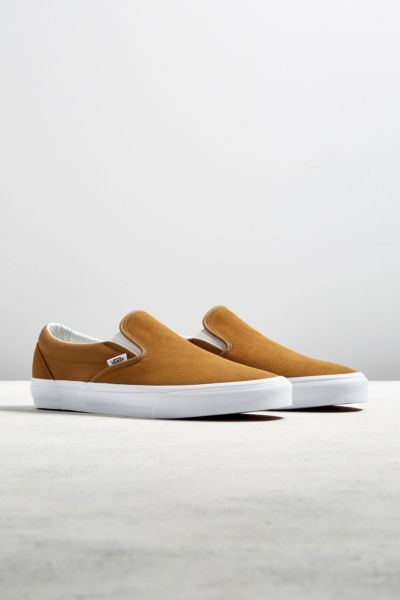 Vans Classic Slip-On Bronze Suede Sneaker | Urban Outfitters
