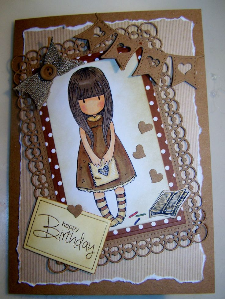 This a stamped image from Gorjuss. I love this little girl. http://sallybeecarddesigns.blogspot.com