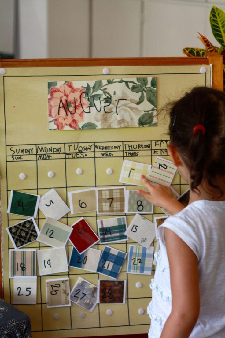Kindergarten Calendar Games : B dc f e c g pixels