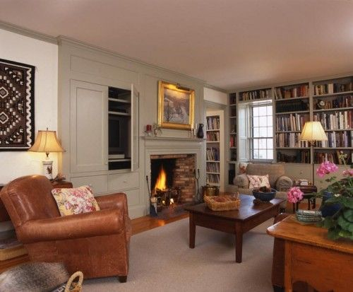newburyport federal family room traditional family room boston by frank shirley architects