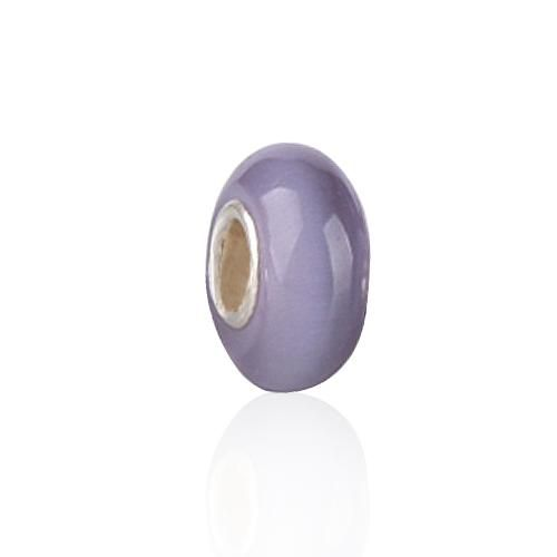 Opaque Lavender Murano Glass Bead Compatible with Pandora Troll Beads