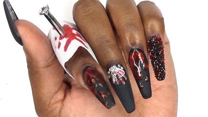 black-matte-nail-polish-red-nail-polish-dripping-october-nails-long-coffin-nails