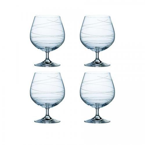Spiral Brandy Glasses (Set of four)