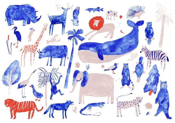 http://saintemaria.tumblr.com/post/90985069579/poster-for-abc-book-gouache-on-paper2014