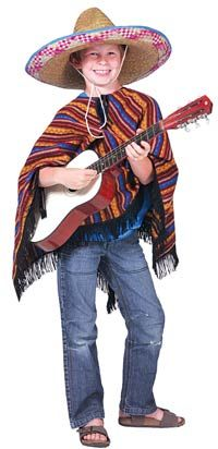 Poncho Kids Costume – Mexican Costumes « Mutant Faces