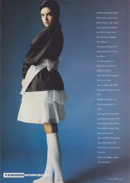 Dolly April 1987 | The Shape Of Skirts To Come (Belinda Riding) 04