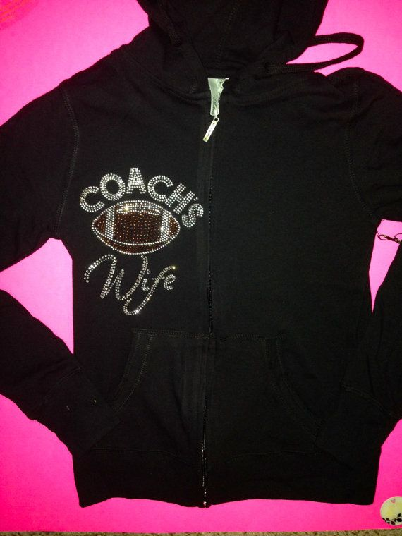 Coach's Football Wife Hoodie. Sport's Wife Hoodie. Football Wifey Zip Up. Football Coach's Wife. Baseball Coach's Wife. Football T-shirt. on Etsy, $69.95