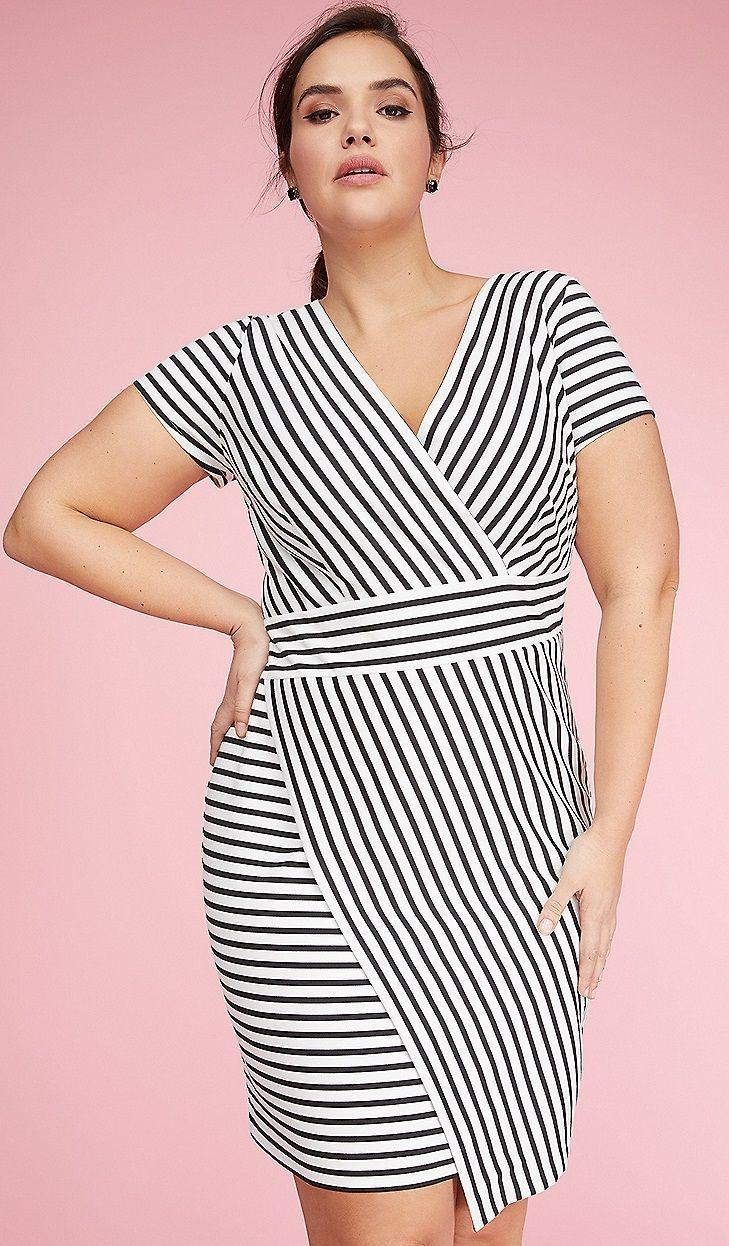 Plus Size Striped Sheath Dress | Plus Size Fashion | Trendy plus ...