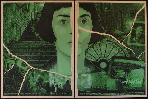 Amelie Movie Wood Poster by Daniel Danger
