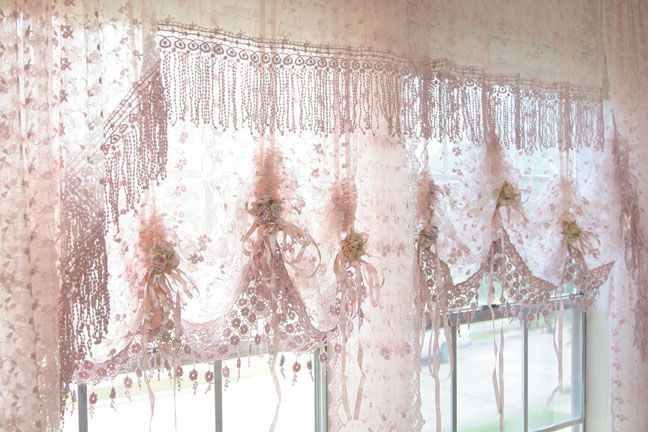 Pin by tammy kemp on curtains and rods pinterest - Shabby chic curtain poles ...