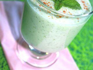 Gaspacho concombre menthe crème