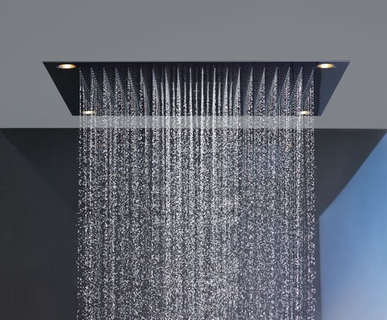 el placer de ducharse bajo la lluvia hans grohe shower heaven designed by philip starck. Black Bedroom Furniture Sets. Home Design Ideas
