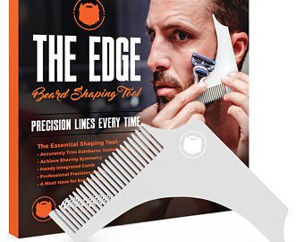 Wild Willies BEARD SHAPING TOOL - For shaping and cutting your beard and moustache like a professional barber!
