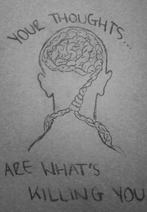 drawing art depression suicide you draw what thoughts is proud brain are noose suicidal thoughts Killing your skill pencil art bad thoughts