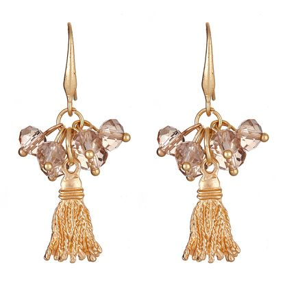 Fornash lets you shine with their playfully flirty Zoe earring with beads and gold tassels.