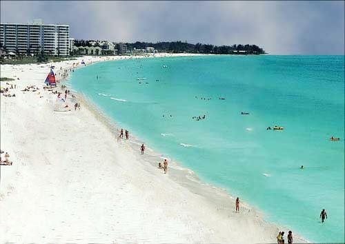 Pure white, soft, lucious sand in Siesta Key Florida