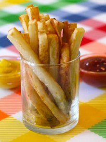 Oven Baked Fries | Weelicious Totally using this as a basic starter recipe! I'm thinking garlic fries!