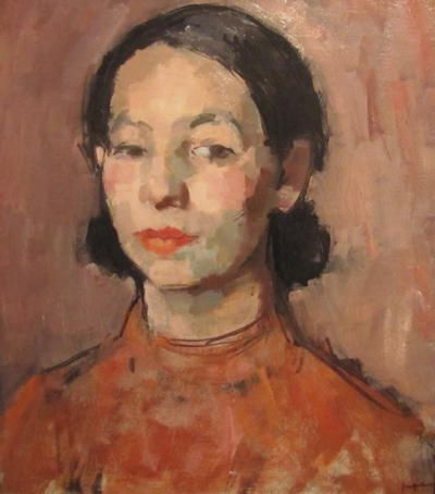 The Pink Dress: Study of a Burmese Girl S J Peploe (The Scottish Gallery)