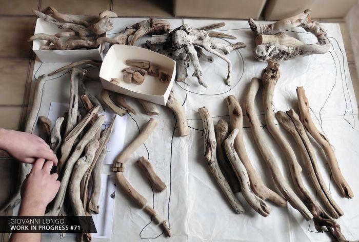 Wip n.71 / Puzzle... https://www.facebook.com/giovannilongo.art / fragile skeletons arte art scultura sculpture legno wood driftwood