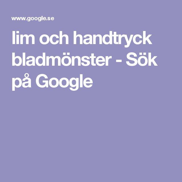 lim och handtryck bladmönster - Sök på Google