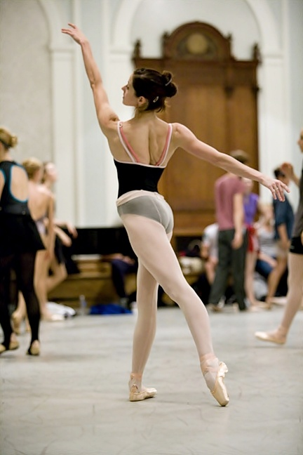 Ballet Class..seamed tights are just better. :)