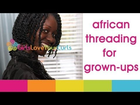 ♥ 41 ♥ African Threading For Grown-Ups! Awesome protective style for natural that last longer than two strand twist.