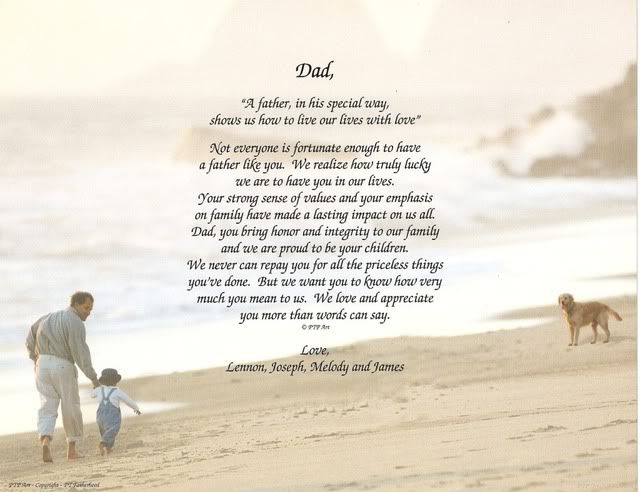 birthday poem for dad | Personalized Fathers Day Gift Dad Daddy Poem Print Gift | eBay