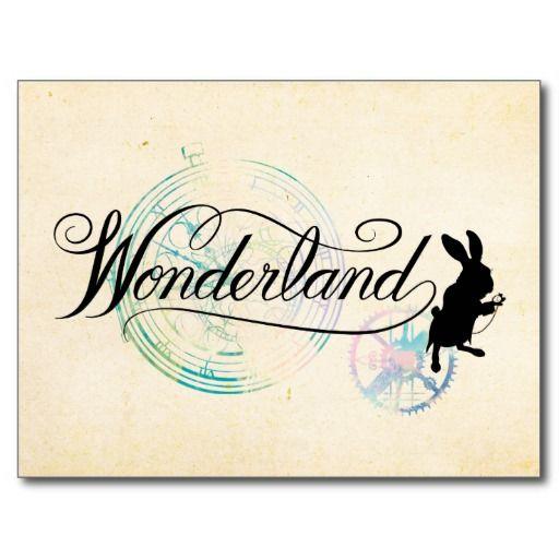 The White Rabbit | Wonderland #tarjeta #postal #postcard