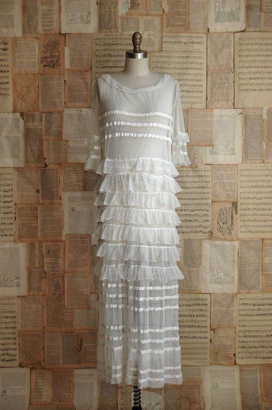 1920's flapper wedding dress