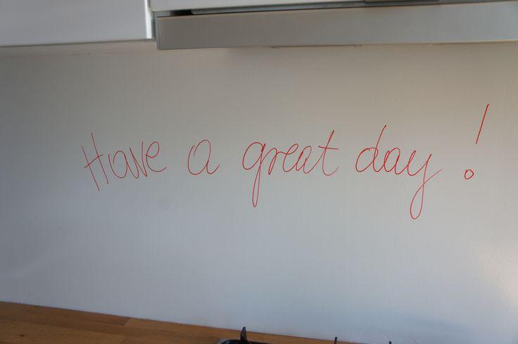 #kitchen #chalkboardpaint #dryerasepaint #dryeraseboard #office #iteo #HQ