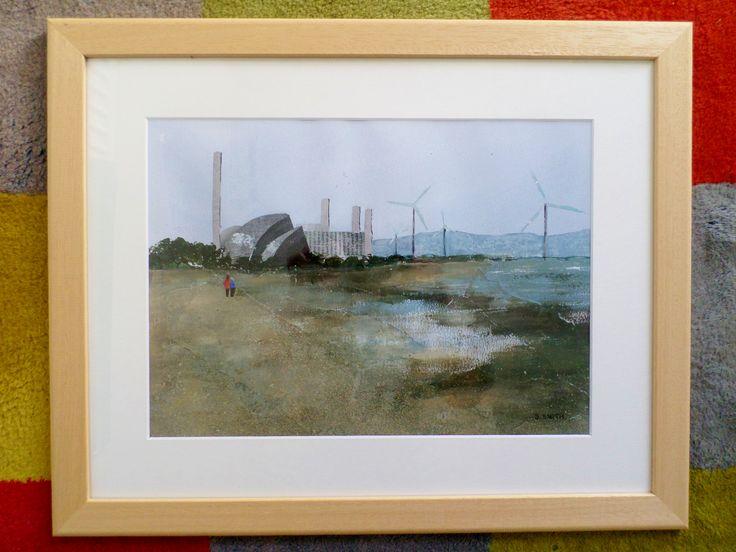 Severn Beach. Mixed media painting by Sara Smith
