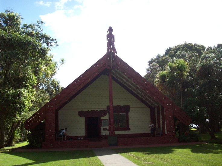 Maori Meeting House, no shoes allowed.