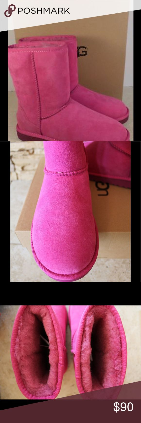 NIB UGG Classic Short Suede Boots Suede upper and shearling lined.  EVA outsole for durability.  These are youth sizes so 4, 5, and 6 youth is the equivalent to women's 6, 7, and 8. UGG Shoes Winter & Rain Boots