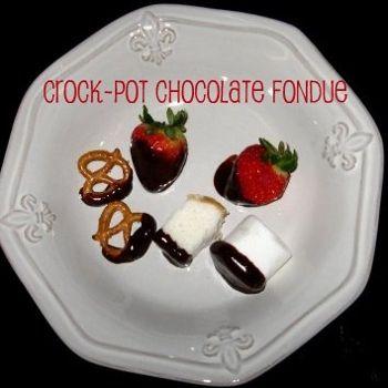Crock Pot Chocolate Fondue