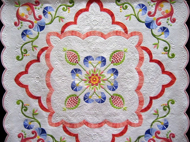 A lovely work of art from a talented quilter.