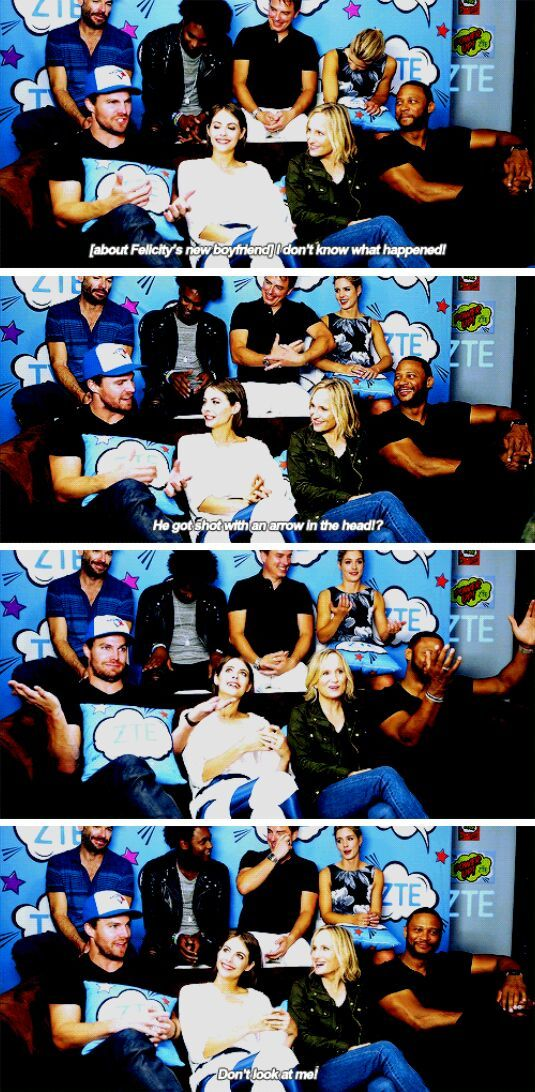 How is Oliver going to react to [Felicity's boyfriend]?! - Stephen #Olicity #Arrow #SDCC2016
