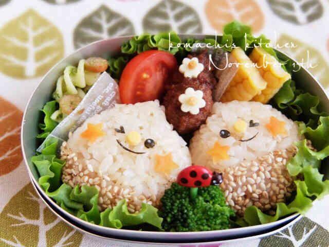 幼稚園 お弁当♡栗 さん 秋 キャラ弁の画像