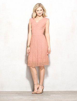 Lace Elastic Waist Dress