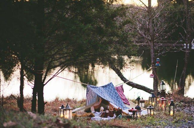 DEZAZU: Sesion de Fotos Novios ♕♕: Una acampada romántica