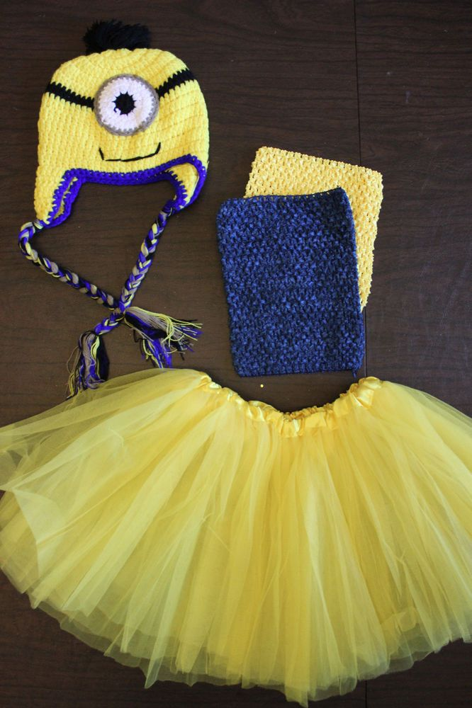 Baby Girl Child Toddler Despicable Me MINION Tutu BIRTHDAY Spring Costume Outfit