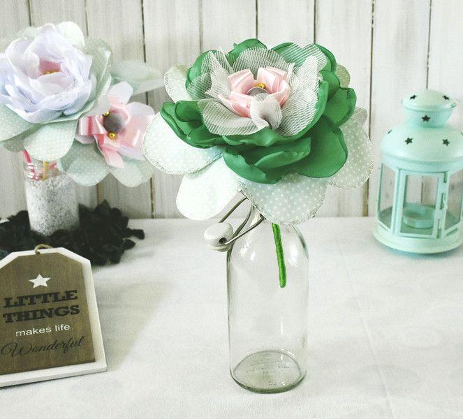 Duże kwiaty na patyku - AgaSam-Kwiaty - Dekoracje