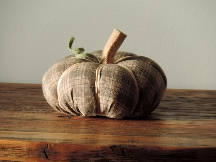 sage green gingham pumpkin decoration by kjwcrafts on etsy httpswwwetsy - Halloween Decorations Clearance