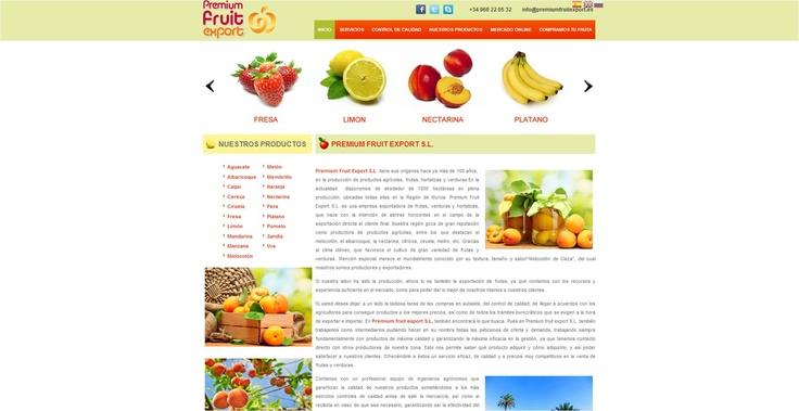 Premium fruit export #website #design #Guellcom