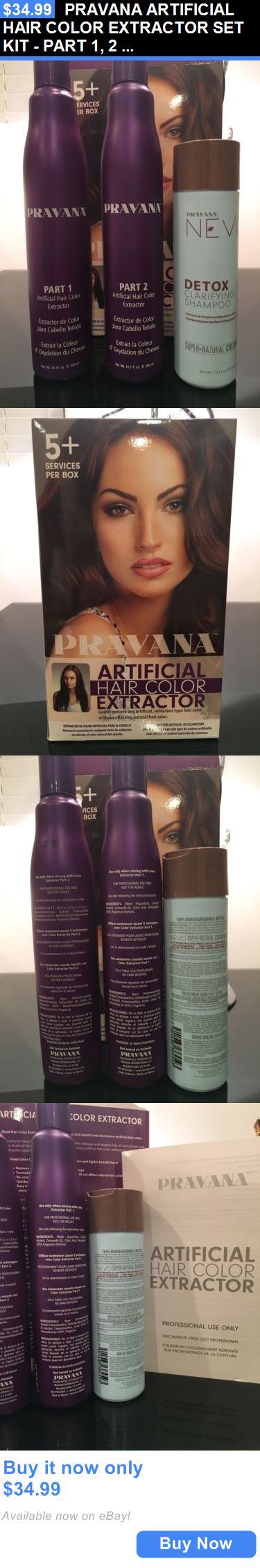 Hair Color: Pravana Artificial Hair Color Extractor Set Kit - Part 1, 2 And Clarifying Shampoo BUY IT NOW ONLY: $34.99